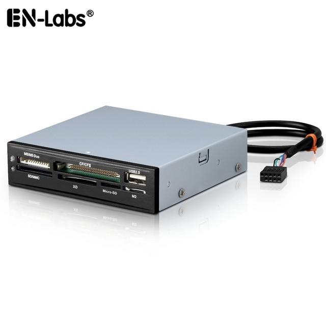 USB 2.0 Card Reader Hub 3.5 Front Panel TF Flash MiniSD Micro SD Card Slot MMC MS CF XD CF Hight Speed Card Reader Floppy Box 1