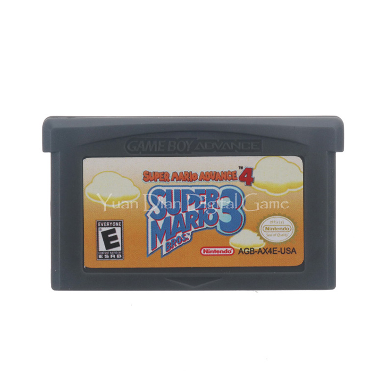 For Nintendo GBA Video Game Cartridge Console Card Super Mari Advance 4 Super Mari Bros.3  English Language US Version