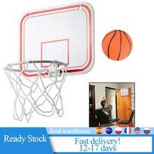 Небьющаяся Задняя панель для помещений, мини-спортивный удар, Бесплатная игрушка, настенные подвесные Детские баскетбольные обручи, набор, ...