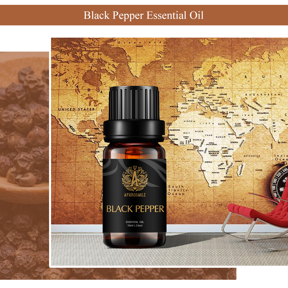 10ml Essential Oil For Aromatherapy Organic Black Pepper Essential Oil Relieve Body Stress Air Freshening Replacement Oil