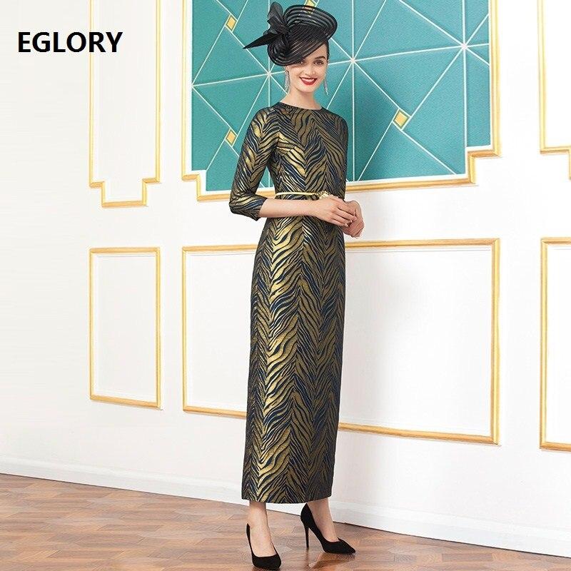 Одежда размера плюс 2020 весенние Стильные женские вечерние длинные вечерние платья с круглым вырезом и золотыми полосками до щиколотки 2XL 3XL