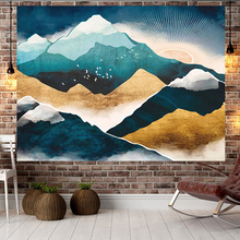цена на Jayi Landscape Painting Sunset Sea Side Scenery Hill Multi Pattern Wall Print Home Tapestry Wall Hanging Room Decoration 120GT