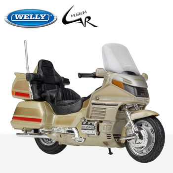 Welly 1:18 Honda GOLD WING Metal Diecast Scale Model Motorcycle Kit Display Collections Gift Toy модель мотоцикла welly 1 18 honda gold wing