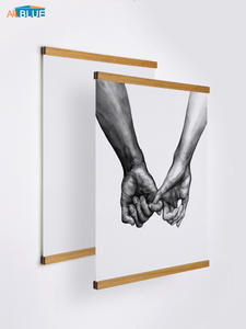 Poster-Hanger Print-Holder Hanging Artwork-Picture Magnetic-Frame Photo Wooden Wall-Art