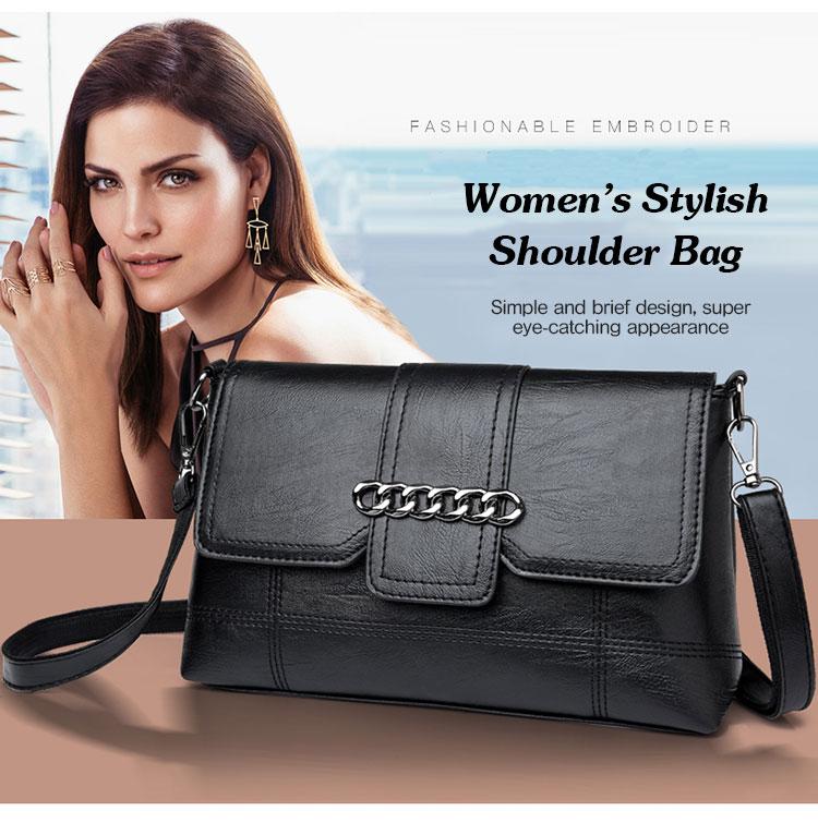 Middle-aged Women's Bag New Korean Version Of The Messenger Bag Soft Leather Small Bag Shoulder Bag Mom Backpack