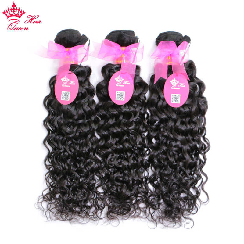"Queen Hair Products New Arrival Brazilian Human Hair Bundles Deal Water Wave Human Hair Bundle 10""-28"" Double Weft Weaving"