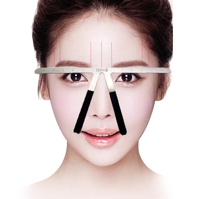 Eyebrow Ruler Shaping Measuring Eyebrow Stencils Beauty Makeup Balance Tattoo Stencil Template Position Eyebrow Ruler Tools