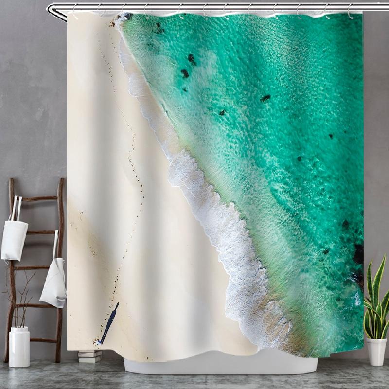 Beach Y Bathroom Shower Curtain