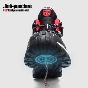 Image 3 - LARNMERN Mens รองเท้าทำงานเหล็กความปลอดภัยรองเท้าสบายน้ำหนักเบา Anti Smashing ลื่นป้องกันการก่อสร้างรองเท้า