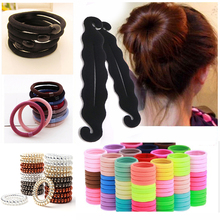 Telephone Wire Rubber Band Rope Spiral Shape Elastic Hair Bands Girls H