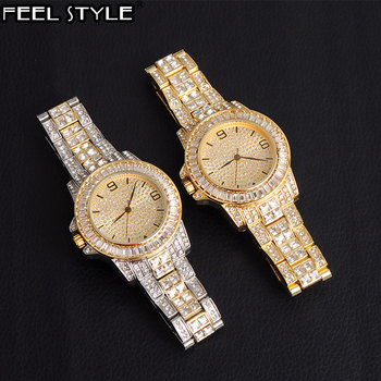 Hip Hop Luxury Mens Iced Out CZ Waterproof Baguette Watches Date Quartz Wrist Watches With Micropave Alloy Watch For Men Jewelry hip hop luxury mens iced out cz waterproof watches date quartz wrist watches with micropave alloy watch for men jewelry