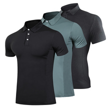 Golf clothing fashion T-shirt men running quick-drying breathable running T-shirt fitness sports gym tennis T-shirt