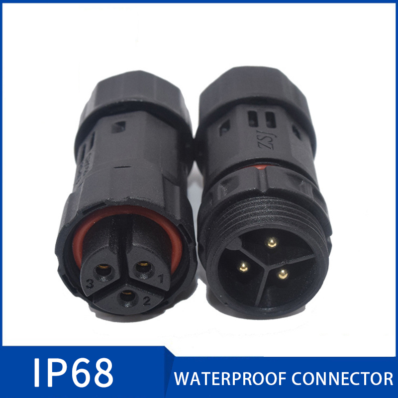 M19 3Pin Connector IP68 Waterproof Connector Plug Socket Male Female 2 3 4 5 6 7 8 9 10 Pin Cable Connectors for Led Light