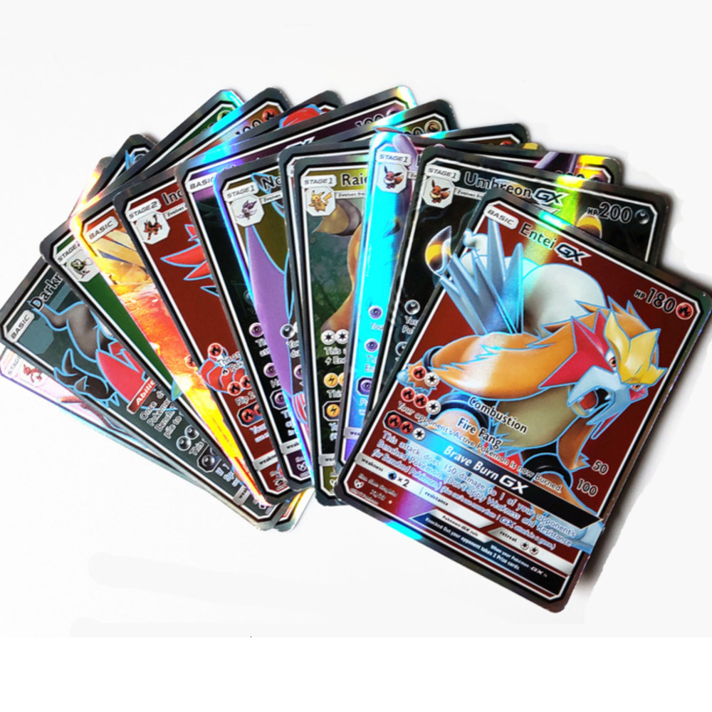 In Stocks 200 Pcs 25 50 100pcs GX EX Shining Cards Game Battle Carte Trading Cards Game Children Toy