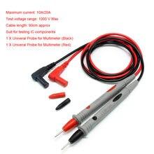 Multimètre numérique, sonde de courant et de tension, pointeur de sonde universel, câble de Test en Silicone 1000v 10a/20a
