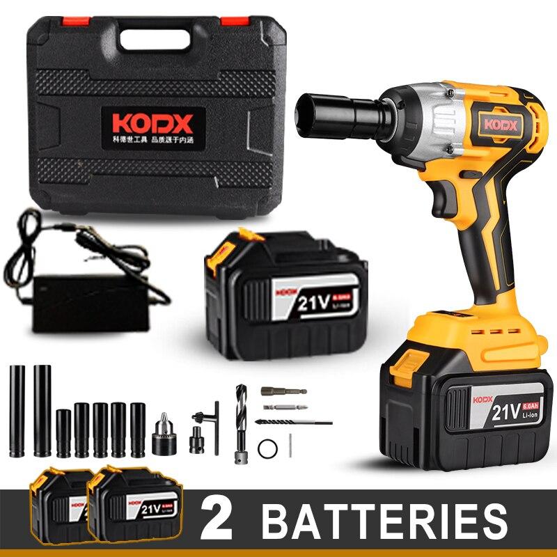 KODX – clé à chocs électrique sans fil, outil électrique domestique de 1/2 pouces, batterie Li 20000Amh pour batterie Makita 21V