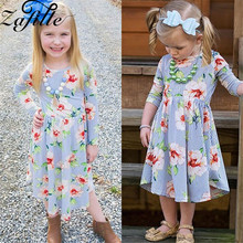 ZAFILLE 2020 Cute Baby Girl Clothes Toddler Baby Girls Dress Long Sleeve Dresses Floral Dress Kids Girl Infant Girls Clothing