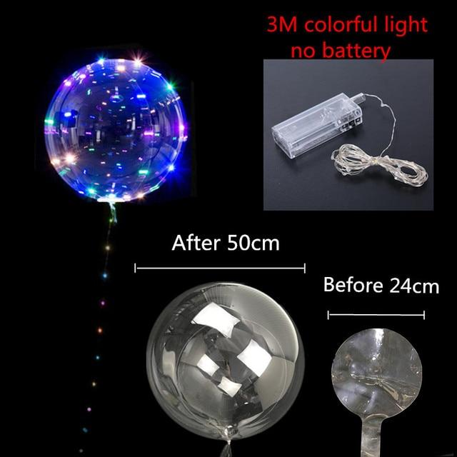 20 pulgadas 36 pulgadas luminoso Led globo transparente burbuja redonda decoración cumpleaños fiesta boda decoración globos LED regalo de Navidad