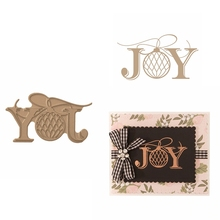 Hot Foil Plate JOY Glimmer Christmas Ornament for DIY Scrapbooking Embossing Crafts Cards Decoration New 2019