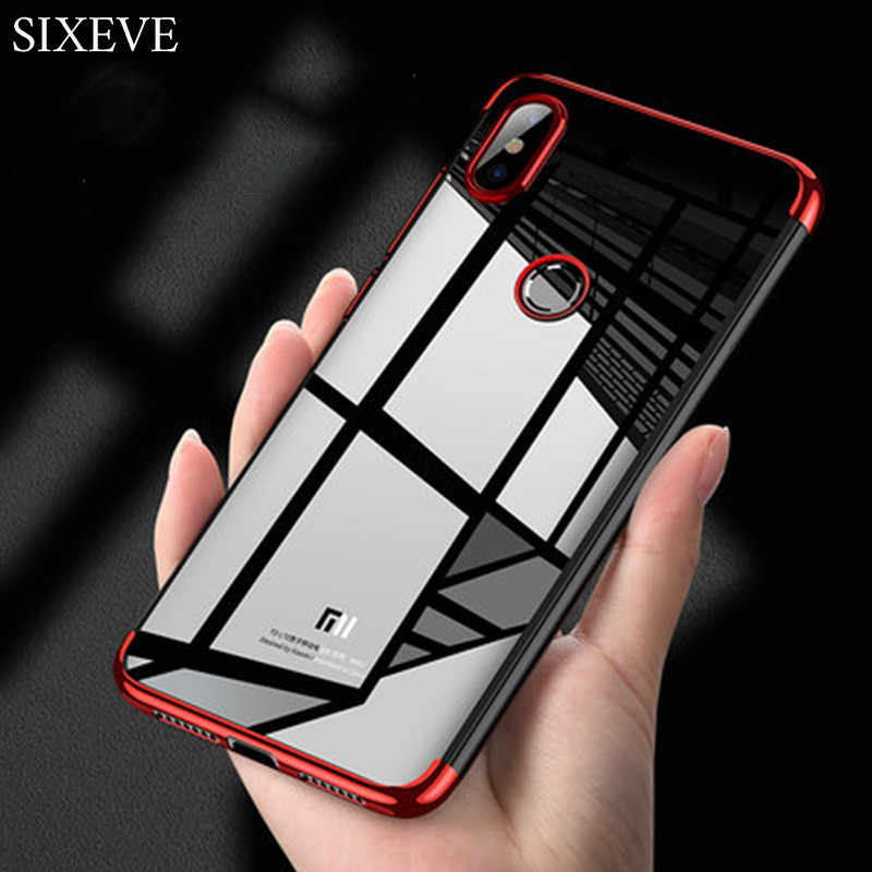 Plating Jelas Silicon Case untuk Xiaomi Mi 6 8 Lite 9 Se Redmi 4X 5 5A PLUS 6 6A 6Pro s2 Note 4 4X Slim Crystal Rubber Phone Cover