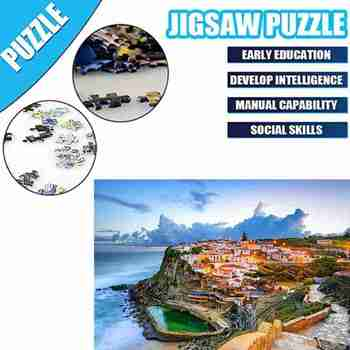 Mini Jigsaw Puzzles 1000 Pieces Wooden Assembling Picture Landscape Puzzles Toy Home Decoration Puzzles DIY Gift For Adults Kids фото