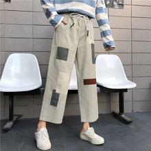 Индивидуальные брюки карго с высокой талией Лоскутные Комбинезоны