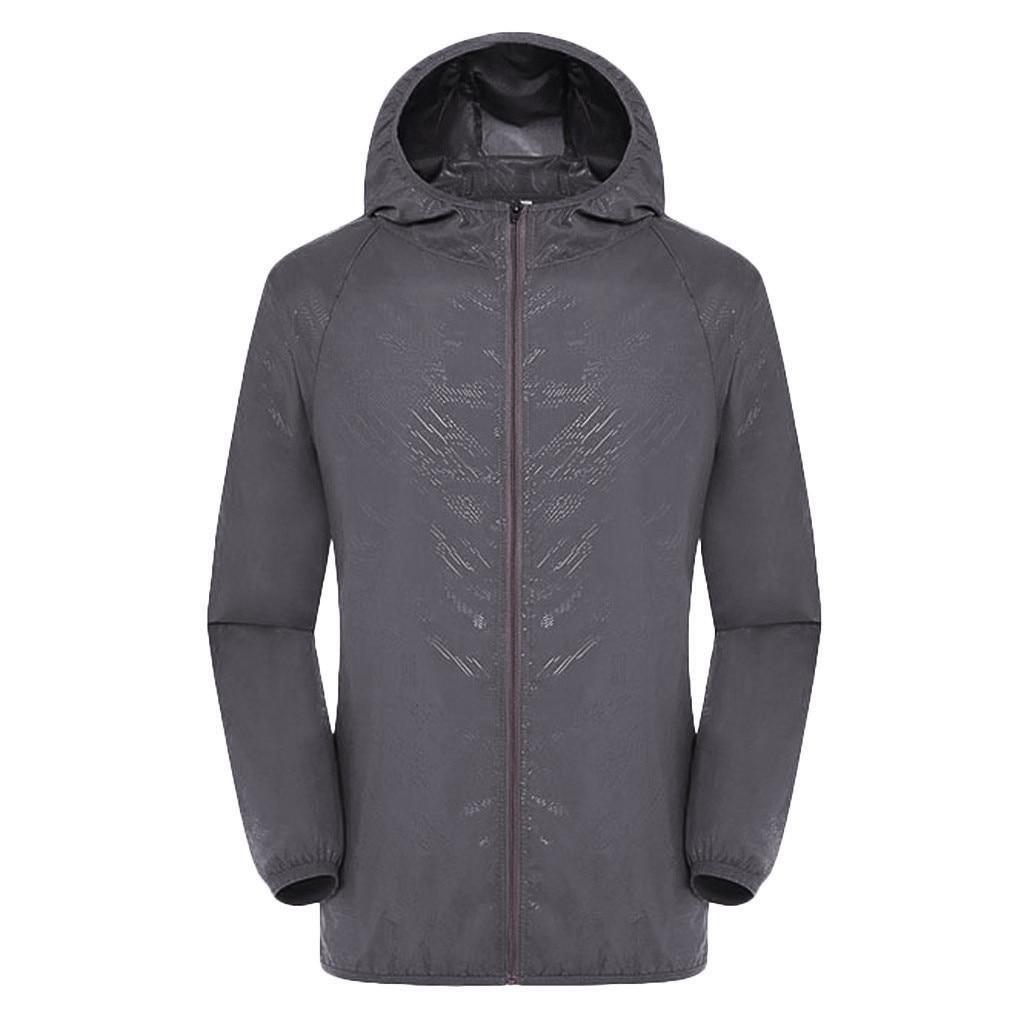 JAYCOSIN Men's Coats Summer Spring Autumn Men Windproof Jackets Coat Man Ultra-Light Rainproof Windbreaker Top Solid Polyester