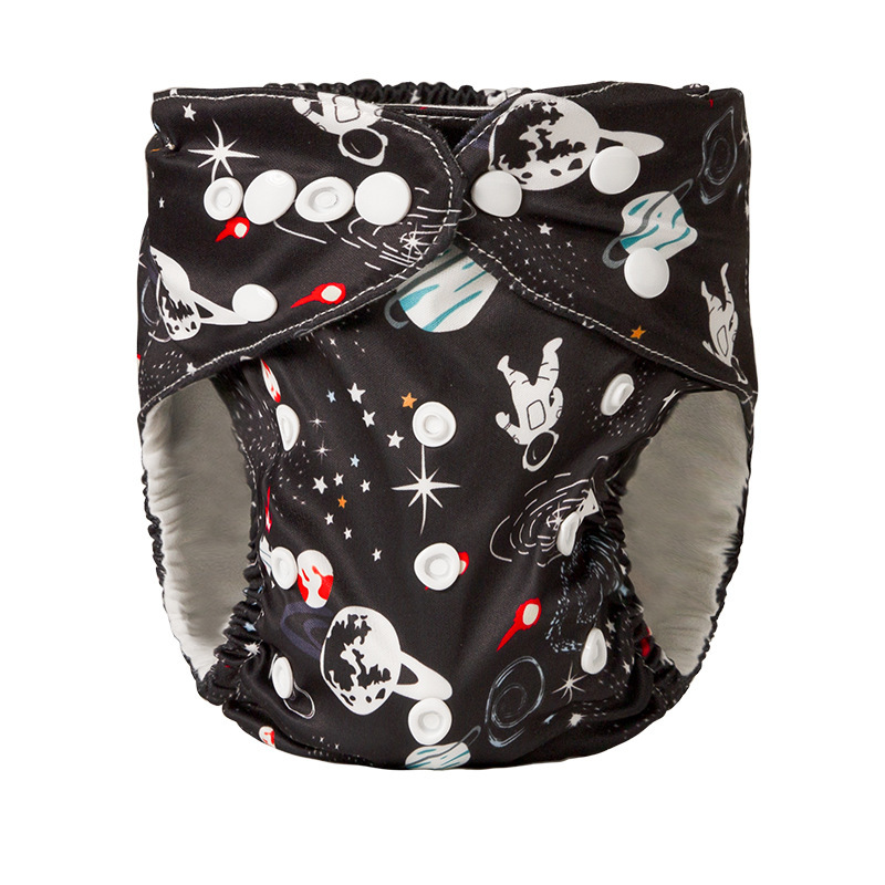 DALEMOXU 12 Styles Washable cloth diaper Cover Adjustable Nappy Reusable Girl Boy Print Pocket Panties Fit 0-2years 3-15kg Baby