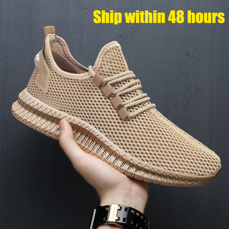Men Sneakers 2020 Black Air Mesh Breathable Casual Sport Shoes Male Lace Up Non-slip Men Low Sneakers Mens Trainers