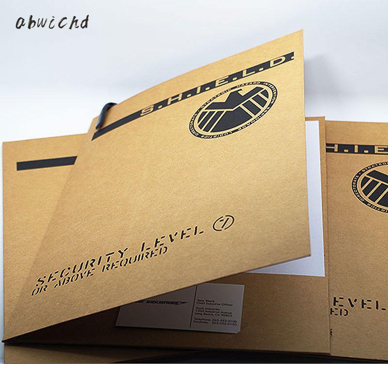 3 Pcs SHIELD Folder Iron Man Aegis Special Agent Aegis Bureau Folder Aegis Archive Bag
