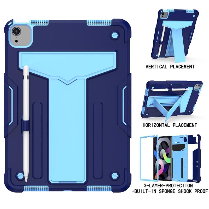 NavyBlue Blue Orange Shock Proof Case For iPad pro 11 2020 A2228 A2231 A2068 A2230 11 inch Heavy Duty