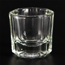 Glass-Cup Acrylic-Powder Transparent-Kit Nail-Art Dappen Dish Crystal Clear for White-Color