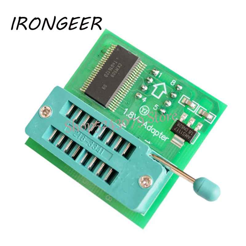 1.8V Adapter For Iphone / Motherboard 1.8V SPI Flash SOP8 DIP8 W25 MX25 Use On Programmers TL866CS TL866A EZP2010 EZP2013 CH341A