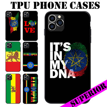 Para Huawei Honor 7 8 9 10 V20 S I A Pro Lite, Bandera de Etiopía, tema suave de TPU, fundas para teléfono con Logo