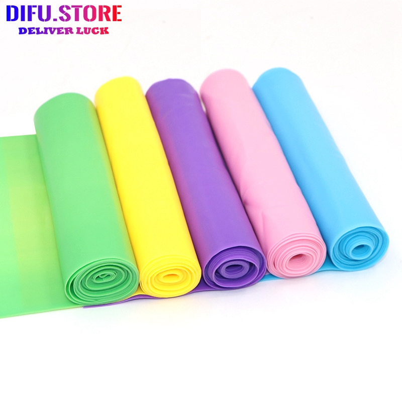 Difu.Store Eco-friendly Tpe Yoga Stretch Belt Pull Piece Resistance GYM And Home Fitness Rope Pilates Workout Equipment Elastic