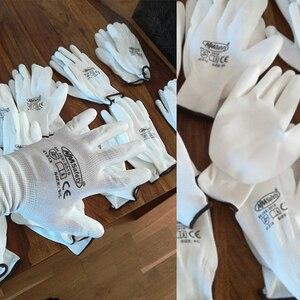 Image 3 - 12 זוגות אנטי סטטי כותנה PU ניילון עבודת כפפת ESD בטיחות אלקטרוני תעשייתי עבודה כפפות לגברים או נשים