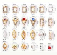 100 шт/лот подвески для ногтей золотые квадратные бирюзовые