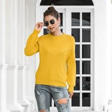 Vintage moda Casual linternas bolsillos camisetas y blusas cálido y cómodo tejido ropa de mujer Otoño e Invierno