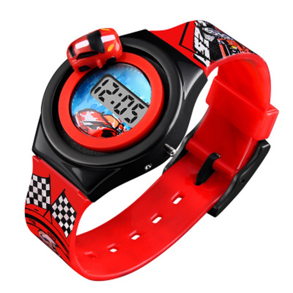 Kids Watches Boys Cartoon Racing Car Children's Watches Fashion Digital Electronic Watches Luxury Fashion Student Clock Watches