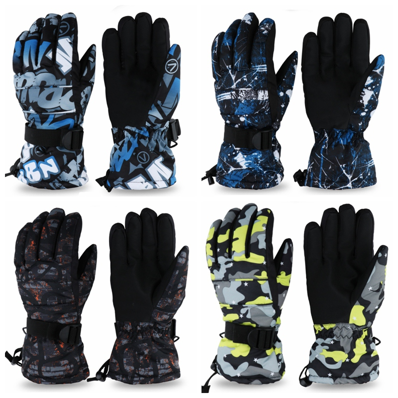 Universal  Anti-slip Ski Gloves Snowboard Waterproof Winter Snow Warm Fleece Motorcycle Snowmobile Riding Gloves