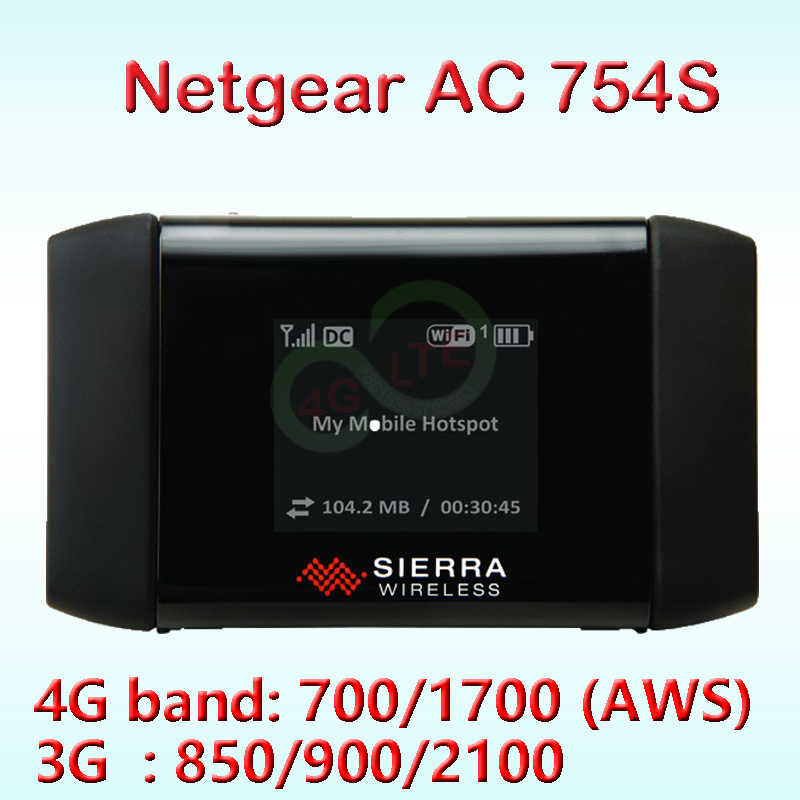 unlocked Sierra Wireless Aircard 754S 4G Mobile Hotspot Router4g Netgear AC754s 4g mifi router with sim card