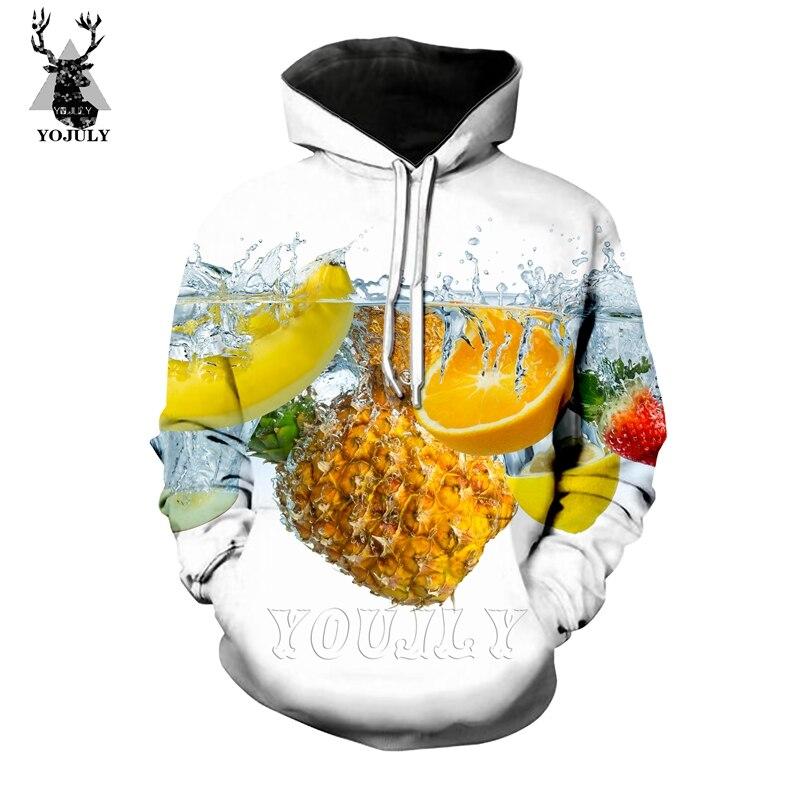 New Funny 3D Fruit Banana Pineapple T Shirt Fashion Men's Sets Novelty T-Shirts/hoodie/Sweatshirt Hip Hop O-neck Streetwear Tops