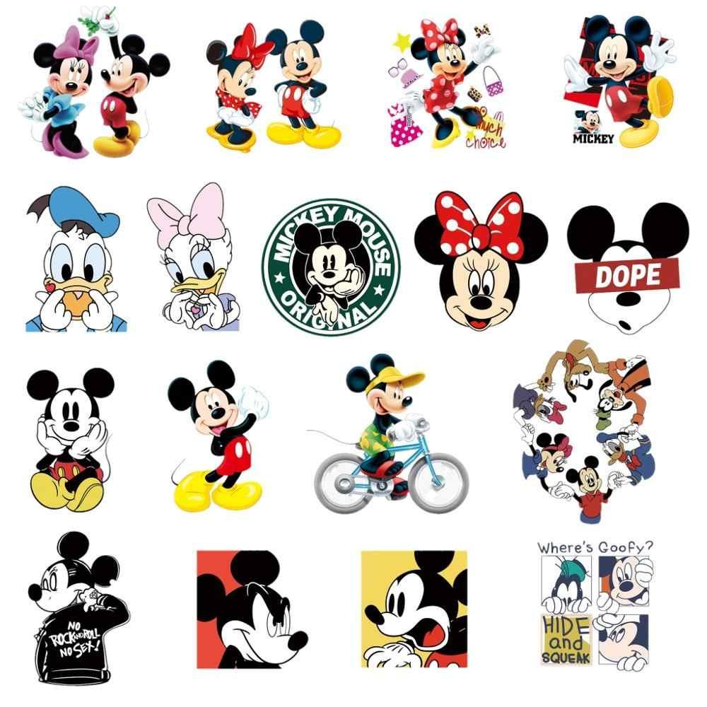 17pcs Wholesale Mix Mickey Minnie Daisy Goofy Donald Patches Iron On Sticker Thermal Transfer Applique Heat Sensitive Printing Aliexpress