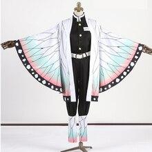 Истребитель демона: Kimetsu No Yaiba Shinobu Kochou; костюм для косплея; платье; костюм для косплея