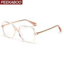 Peekaboo квадратный синий светильник мужские очки с оптической оправой прозрачный близорукость очки Женская оправа tr90 Половина металла