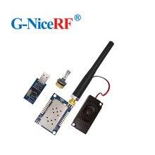 2 Set/lotto SA828 1W 30dBm All in One VHF 134 174MHz walky talky Modulo Con bordo Ponte USB, antenna, Altoparlante, Rotary Switch