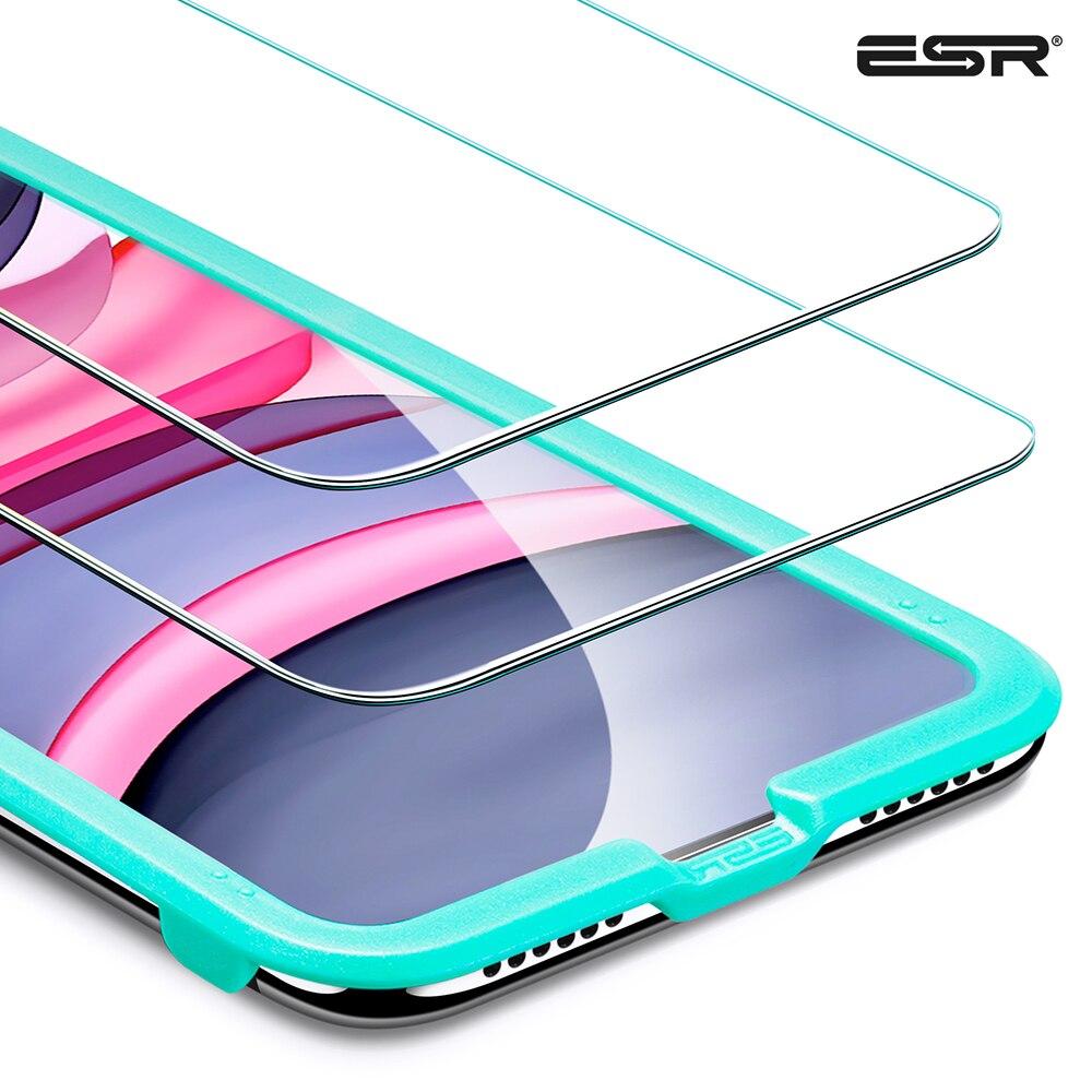3 pièces ESR protecteur d'écran pour iPhone 11 Pro 11 Pro Max verre de protection pour iPhone 11 2019 Film d'écran pour iPhone X XS XR XS Max