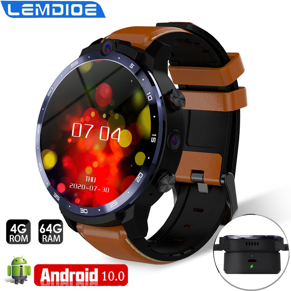 Smart Watch Men LEM12 Pro 4G  64G Wireless Projection 1800MAH Battery Face ID Dual Cameras GPS With Bank Power Smartwatch