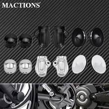 Motorcycle Rear Axle Covers Wheel Shaft Cap Side Protector Guard Axle Nut Cover Cap Swingarm Bolts Cover For Harley V-Rod VRSCB
