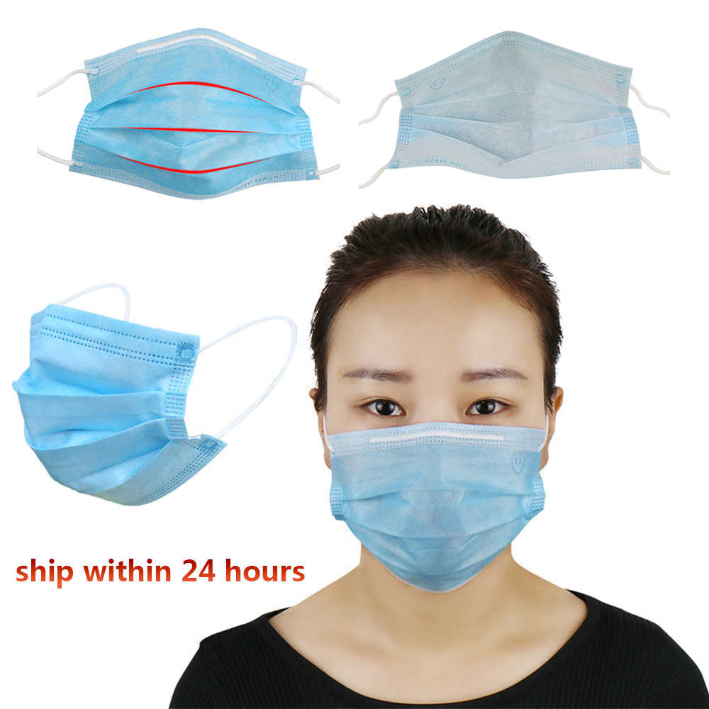 50pcs disposable face mouth mask